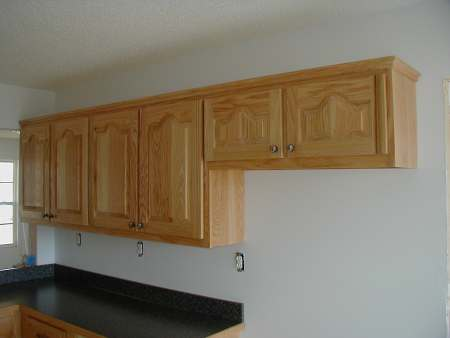 Oak cabinet for Oak crown molding for kitchen cabinets